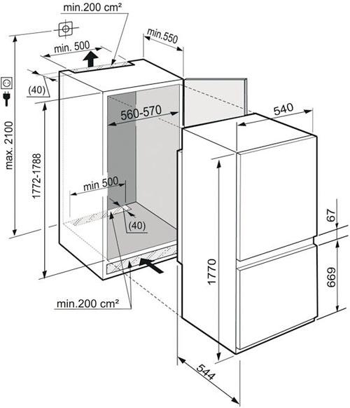 Встраиваемый холодильник liebherr icus 3314 в казани и татарстане.